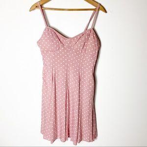 American Eagle Spaghetti Strap Blush Pink Dress